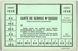 Carte D'abonnement De Cinéma Paris - Année 1938 - Imprimeur: Laverdure à Alençon - Tickets D'entrée