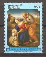 ANTIGUA & BARBUDA - 1999 Natale RAFFAELLO Sacra Famiglia Con Agnello (museo Prado, Madrid) Nuovo** MNH - Religion