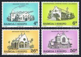 122. SAMOA 1979 SET/4 STAMP CHRISTMAS, CHURCH. MNH - Samoa