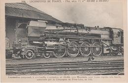 AK Les Locomotives Francaises Est 506 Locomotive Machine No 241004 Chemin De Fer Train Mountain Compagnie De Fives Lille - Sonstige