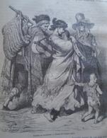 Famille De Musiciens -   Granada -   Spain Espana, Engraving 1864 TDM1864.2.363 - Estampas & Grabados