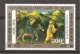 BENIN - 1976 Natale GENTILE DA FABRIANO Fuga In Egitto, Pala Strozzi (Uffizi, Firenze) Nuovo** MNH - Religion