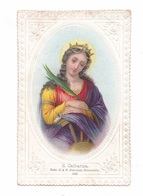 Sainte Catherine, éd. C. & N.Benziger N° 240, Gaufrée - Images Religieuses