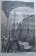 ALHAMBRA  La Tour De Comares -   Granada -   Spain Espana, Engraving 1864 TDM1864.2.373 - Estampas & Grabados