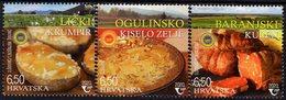Croatia - 2020 - Traditional Food - Potatoes, Sour Cabbage, Baranja Sausage - Mint Stamp Set - Croatia
