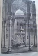 ALHAMBRA  Patio De Los Leones  Grenada  -   Granada -   Spain Espana, Engraving 1864 TDM1864.2.379 - Estampas & Grabados