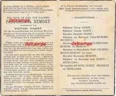 OORLOG GUERRE Paula Remory Wolvertem GESNEUVELD Bombardement Te Brussel Augustus 1944 Haest Nieuwenrode - Images Religieuses