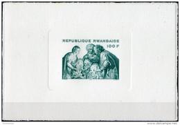Rwanda 1975. Michel #70 VF/MNH. Luxe Bl. Christmas. Rubens (B33) - Rubens