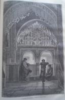 ALHAMBRA  La Mirador De Lindaraja  -   Granada -   Spain Espana, Engraving 1864 TDM1864.2.388 - Estampas & Grabados