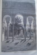 ALHAMBRA  Généralife-   Granada -   Spain Espana, Engraving 1864 TDM1864.2.391 - Estampas & Grabados