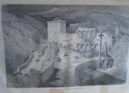 ALHAMBRA Les Torres Bermejas Et Le  Généralife-   Granada -   Spain Espana, Engraving 1864 TDM1864.2.393 - Estampas & Grabados