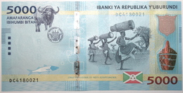 Burundi - 5000 Francs - 2015 - PICK 53 - NEUF - Burundi
