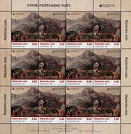 Croatia - 2020 - Europa CEPT - Ancient Postal Routes - Mint Miniature Stamp Sheet - Croatia