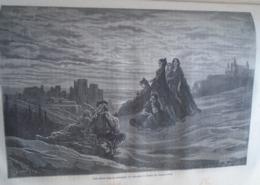 Un Soirée Dans La Campagne De Grenade -   Granada -   Spain Espana, Engraving 1864 TDM1864.2.395 - Estampas & Grabados