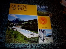 """Vieux Papier Dépliant Touristique Ski Morzine Avoriaz Haute Savoie Hiver 1972/73 Pub Stations """" Portes Du Soleil"""" - Dépliants Touristiques"""