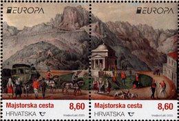 Croatia - 2020 - Europa CEPT - Ancient Postal Routes - Mint Stamp Set - Croatia