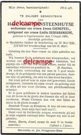 OORLOG GUERRE Alois Vansteenhuyse Ingelmunster Gesneuveld Bombardement Meulebeke 26 Mei 1940 Debrabandere Caenepeel - Images Religieuses