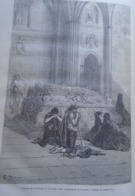 Tombeau De Ferdinand Et DIsabelle Dans La Cathédrale  De Grenade - Granada - Spain Espana, Engraving 1864 TDM1864.2.400 - Estampas & Grabados