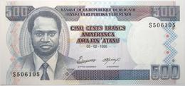 Burundi - 500 Francs - 1995 - PICK 37 A - NEUF - Burundi