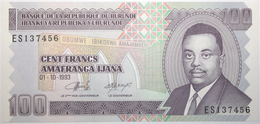 Burundi - 100 Francs - 1993 - PICK 37a - NEUF - Burundi
