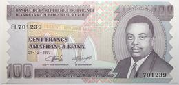 Burundi - 100 Francs - 1997 - PICK 37b - NEUF - Burundi