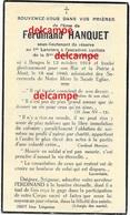 OORLOG GUERRE Ferdinand Hanquet Brugge Soldaat Cycliste Lansiers Gesneuveld Te Aalst 18 Mei 1940 - Images Religieuses