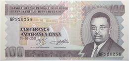 Burundi - 100 Francs - 2001 - PICK 37c - NEUF - Burundi
