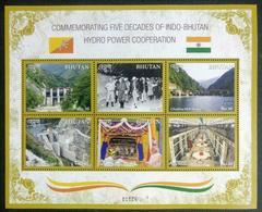 154. BHUTAN 2019 STAMP S/S FIVE DECADES OF INDO-BHUTAN HYDRO POWER COOPERATION. MNH - Bhutan