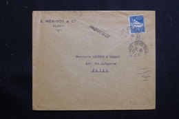 """ALGÉRIE - Enveloppe Commerciale De Alger Pour Paris En 1926, Griffe Linéaire """" Paquebot """" - L 61324 - Lettres & Documents"""