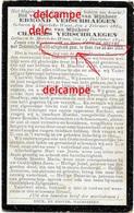 OORLOG GUERRE Edmond En Charles Verschraegen Moerbeke Waas Gesneuveld Gefusilleerd Te Gent Mei 1918 Verzetsman Spion - Andachtsbilder