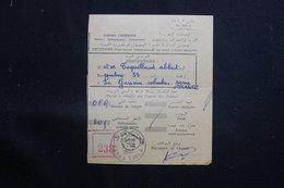 MAROC - Récépissé De Kasba Tadla Pour La France D'un Envoi Recommandé Ou En Valeurs Déclarées En 1957 - L 61325 - Marokko (1956-...)