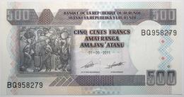 Burundi - 500 Francs - 2011 - PICK 45b - NEUF - Burundi