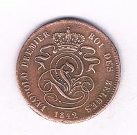 2 CENTIMES  1842   BELGIE /4041/ - 1831-1865: Leopold I
