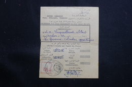 MAROC - Récépissé De Kasba Tadla Pour La France D'un Envoi Recommandé Ou En Valeurs Déclarées En 1957 - L 61326 - Marokko (1956-...)