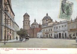 MEXICO Mexique - GUADALAJARA : Templo De SAN FRANCISCO - CPA Colorisée 1914 - AMERIQUE DU SUD South America Sudamerica - Mexique