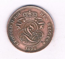 2 CENTIMES  1870   BELGIE /4043/ - 1865-1909: Leopold II