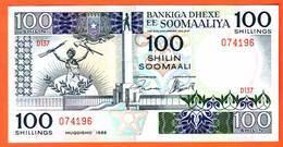 SOMALIE  Billet  100 Shilin  ( 1988 ) Pick 35c  UNC - Somalia