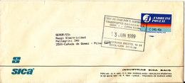 Argentina Domestic Cover Sent 13-6-1989 Single Franked - Argentina