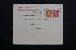 ROYAUME UNI - Enveloppe Commerciale De Londres Pour Paris En 1947, Affranchissement Plaisant - L 61333 - Poststempel