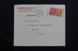 ROYAUME UNI - Enveloppe Commerciale De Londres Pour Paris En 1947, Affranchissement Plaisant - L 61334 - Poststempel