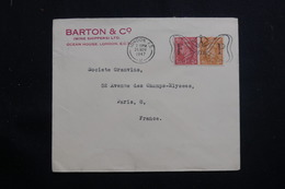 ROYAUME UNI - Enveloppe Commerciale De Londres Pour Paris En 1947, Affranchissement Plaisant - L 61335 - Poststempel