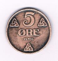 5 ORE  1913  NOORWEGEN /4047/ - Noorwegen