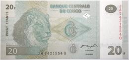 Congo (RD) - 20 Francs - 2003 - PICK 94a - NEUF - Congo