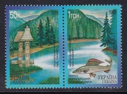 PAIRE NEUVE D'UKRAINE - EUROPA 1999 : PARCS ET RESERVES NATURELS, PARC NATIONAL DE SYNEVIR N° Y&T 363/364 - Europa-CEPT