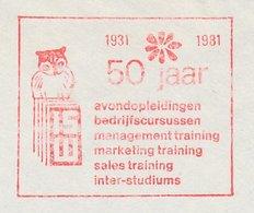 Meter Cut Netherlands 1981 Bird - Owl - Vogels