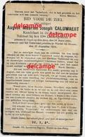 OORLOG GUERRE August Caluwaert Heist Op Den Berg Soldaat Gesneuveld Te Wartet Namur 22 Aug 1914 - Images Religieuses