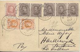 REF1266/ TP 136(5)-190(2)-192 S/CP Waulsort Panorama C.Waulsort 29/8/1924 > Hollande - Belgique