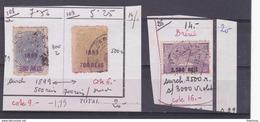 Bresil 108 109 Et Poste Aérienne 26 Surcharge - Usados