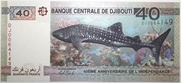 Djibouti - 40 Francs - 2017 - PICK 46a - NEUF - Djibouti