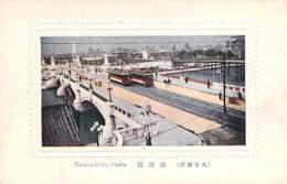 JAPON Japan - OSAKA : Naniwa Bridge - Jolie CPA Colorisée Avec Cadre En Relief - Giappone Japão ASIE Asia Asien Azië - Osaka